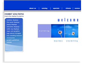 Exhibit Solutions - Media Printing - Web Graphic Design Sample