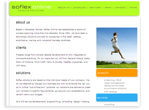 Soflex Online - Website Design for Software
